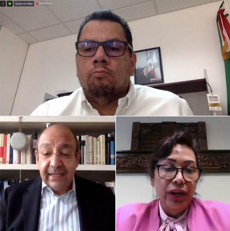 Carlos Rojas Gutiérrez, en el conversatorio del INVEDEM