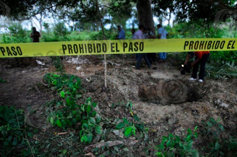 Hallan fosa clandestina entre Poza Rica y Coatzintla