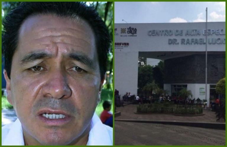 """Eleazar Guerrero, hospitalizado en el CAE """"Rafael Lucio"""" por Covid-19; lo reportan estable"""